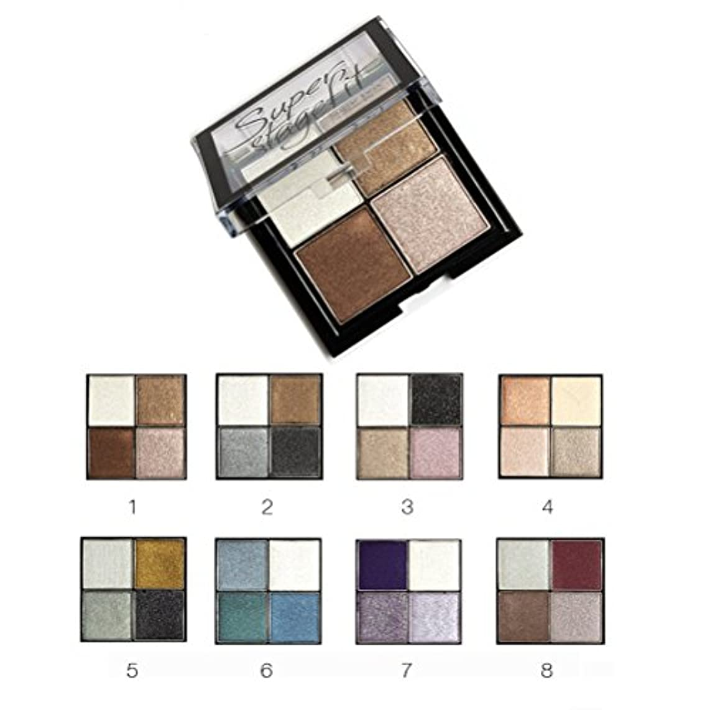 追加さようなら前提条件MakeupAcc アイシャドウパレット 4色 ブラシ・鏡付き 8シリーズオプション ラメ マット  (01) [並行輸入品]