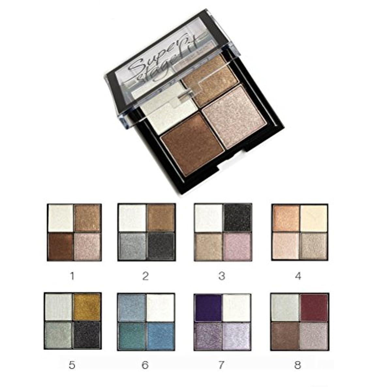 アライメント収縮伝記MakeupAcc アイシャドウパレット 4色 ブラシ?鏡付き 8シリーズオプション ラメ マット  (01) [並行輸入品]