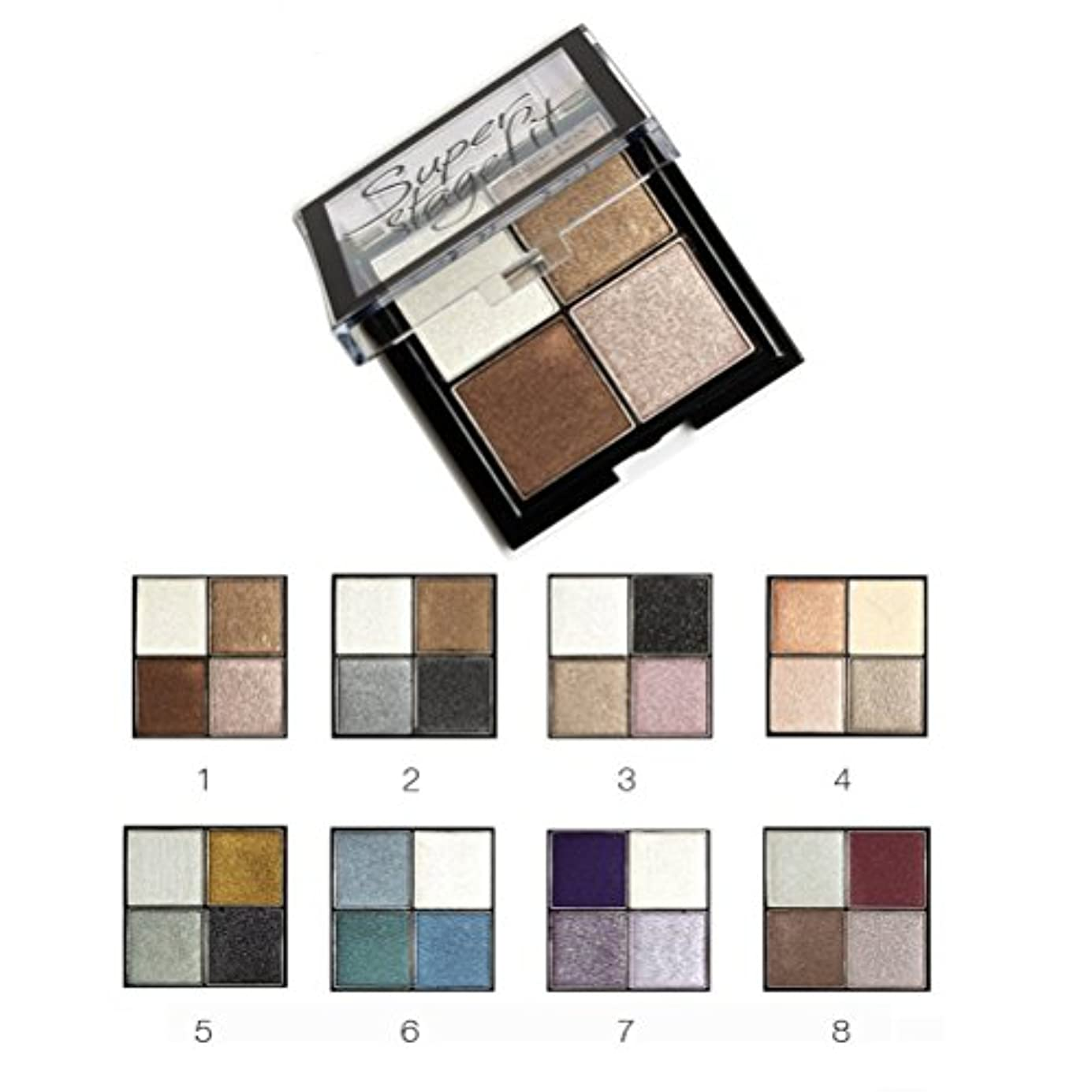 レザーミンチ相手MakeupAcc アイシャドウパレット 4色 ブラシ?鏡付き 8シリーズオプション ラメ マット  (01) [並行輸入品]