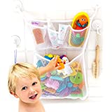 "Bath Toy Organizer -The Original Tub Cubby - Large 14x20"" Quick Dry Bathtub Mesh Net - Massive Baby Toy Storage Bin + 3 Soap"