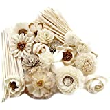Fulllight Aroma Set, 10 Mixed Difference Flowers Diffuser Sesbania Wood with 20 Grams Reed Diffuser Sesame Wood and 20 Reed D