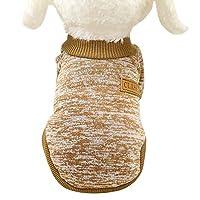 YoGG 冬 ペット服 ファッション キュート ペット犬 クラシックセーター ウールセーター 暖かいペットセーター(カーキ,L)