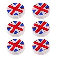 CUTICATE シリコーンテニスラケット振動減衰器ショックアブソーバダンパー - 6個イギリスの旗