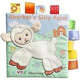 赤ちゃんの動物の布の本幼児の子供の知性の開発おもちゃのベッドは、書籍を認識する (子羊)