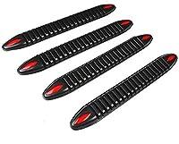 汎用バンパーガード4枚セット ブラック バンパーの擦りキズ防止に 軟質樹脂製 両面テープで簡単貼付 反射材付き FMTYK4104SETBK
