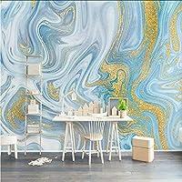 Hwhz カスタム任意サイズ壁画壁紙3Dエンボス加工ブルーテクスチャ大理石の壁紙ファッション高級ラインリビングルームテレビソファ家の装飾-280X200Cm