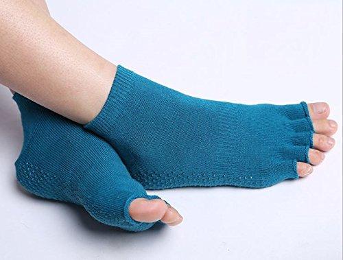 [해외](퍼스트) FAST 미끄럼 방지 기능 요가 용 5 발가락 양말 요가웨어 요가 양말 레그 워머 여성 양말 5 개의 손가락 티라삐스 암반욕 피트니스 (하늘색)/(First) FAST 5-finger socks for yoga with anti-slip yoga wear yoga socks leg warmers ladies...
