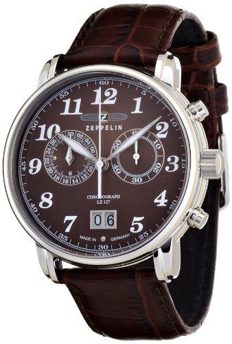 [ツェッペリン]ZEPPELIN 腕時計 LZ127 Graf Zeppelin ブラウン 76843 メンズ 【正規輸入品】