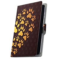 タブレット 手帳型 タブレットケース タブレットカバー カバー レザー ケース 手帳タイプ フリップ ダイアリー 二つ折り 革 動物 あしあと 肉球 005417 MediaPad T3 7 Huawei ファーウェイ MediaPad T3 7 メディアパッド T3 7 t37mediaPd t37mediaPd-005417-tb