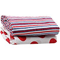 juDanzy 100% Cotton Swaddle Set of 2 Large 45X45 Muslin Baby Girl or Boy Blankets (Ships Ahoy) by juDanzy