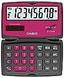 カシオ カラフル電卓 折りたたみ手帳タイプ 8桁 SL-C100B-BR-N ベリーピンク