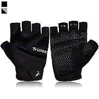 trideer超軽量ワークアウト手袋、柔軟なジム手袋滑り止めグリップ&シリカゲル調節可能なベルクロストラップ、練習用手袋行マシン、調整可能なダンベル M (Fits 7.3-7.7 Inches)