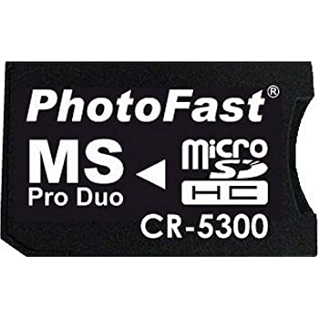 PhotoFast microSD to MS Pro Duo変換アダプターブリスターパッケージ・microSDHC8GB対応 CR-5300