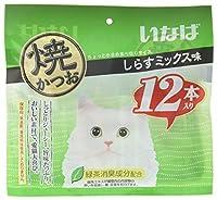 いなば 猫用おやつ 焼かつお しらすミックス味 12本入