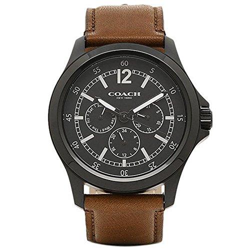 (コーチ) COACH コーチ 時計 アウトレット COACH W5007 BK/SD メンズ腕時計 ウォッチ ブラック/サドル [並行輸入品]