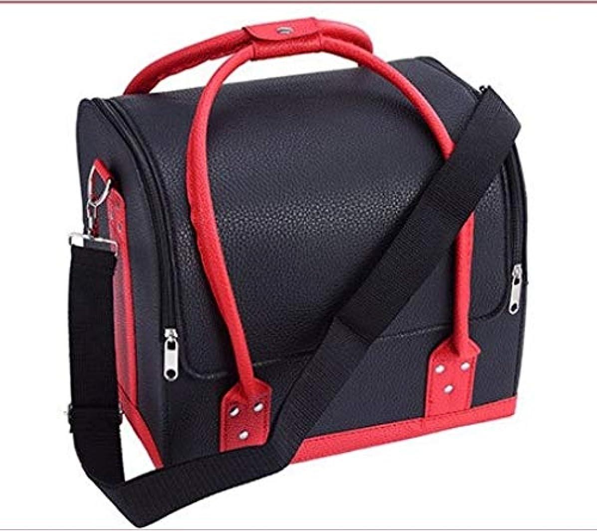 旅客形容詞ロゴ化粧品ケース、ポータブル斜め化粧品バッグ、マルチレイヤダブルオープンポータブル化粧品ケース、ポータブル旅行多機能化粧品ケース、美容ネイルジュエリー収納ボックス