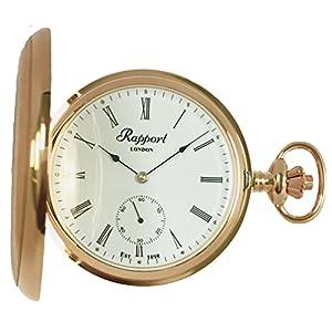[ラポート]RAPPORT 懐中時計 手巻き スモールセコンド ダブルハンターケース PW12 【正規輸入品】