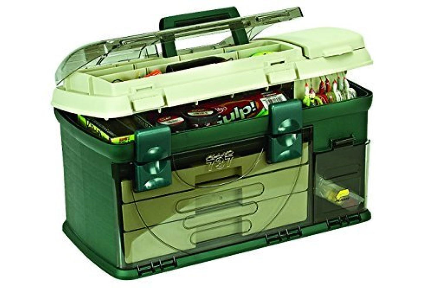 切り刻むスチール娘Plano 3-Drawer Tackle Box, Green Metallic/Beige
