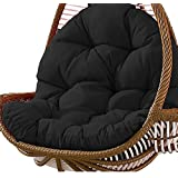 Swing Hanging Basket Seat Cushion Thickened Hanging Egg Hammock Chair Pads for Home Patio Garden 31 x 47 inch Black
