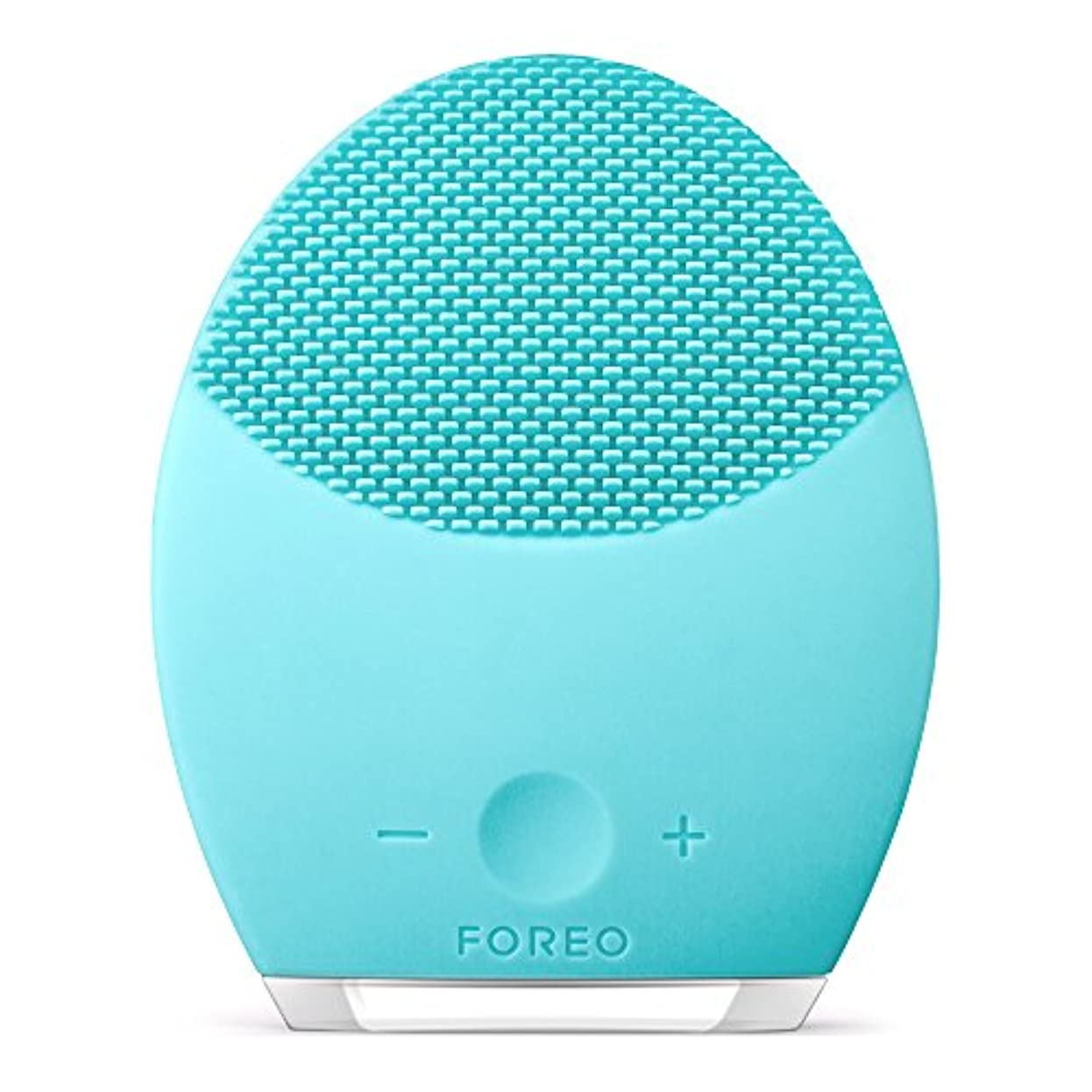 分配します水っぽいラメFOREO LUNA 2 for オイリースキン 電動洗顔ブラシ シリコーン製 音波振動