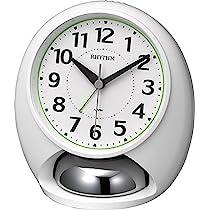 リズム時計 目覚まし時計 大音量 アナログ タフバトラーラウド ベル音 アラーム 白 RHYTHM 4RA480SR03