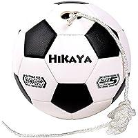 Hikaya Tetherサッカーボールwith接続バー、サイズ5、8 ftナイロンロープ、トレーニング向上し、スキル、として再生速度ボール、ネットボール、Tetherball