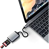 Satechi Type-C Aluminum UHS-II Micro/SD Card Reader Adapter - Compatible with iMac Pro, 2017 iMac, 2018 iPad Pro, 2018 MacBook Pro/Air, Microsoft Surface Go and More (Space Gray)
