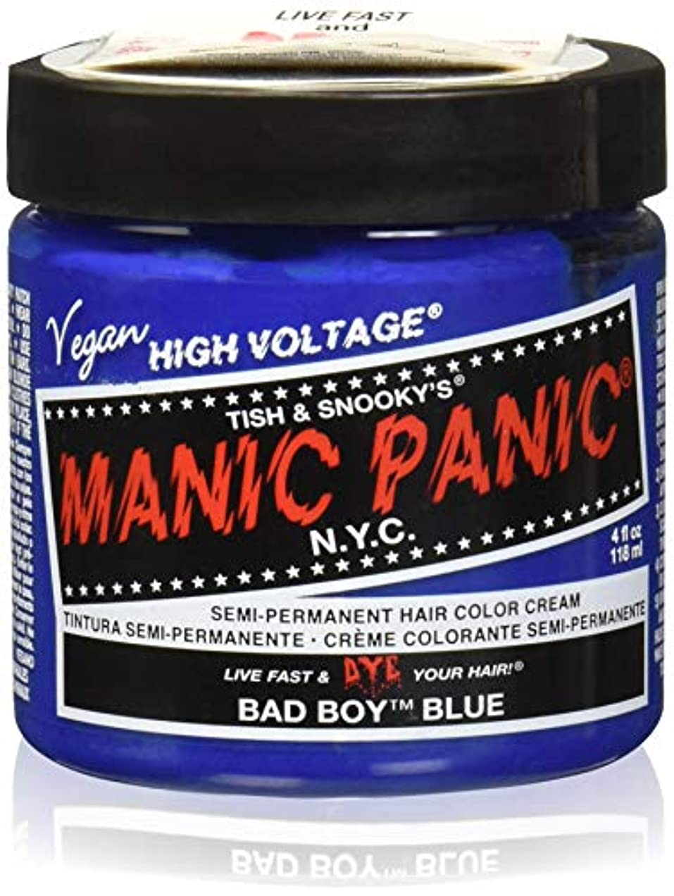 溶かす騒々しい促進するマニックパニック カラークリーム バットボーイブルー