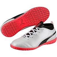 PUMA Boys One 17.4 It Jr Wht-Blk-Fi, White, Football Boots