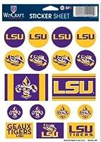"NCAA公式Louisiana State Tigers 5"" x7""ステッカーシート"