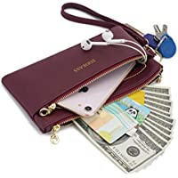 ZOOEASS Women Vegan Leather Wristlets Bag, Clutch Organizer Wallets Purses for iPhone