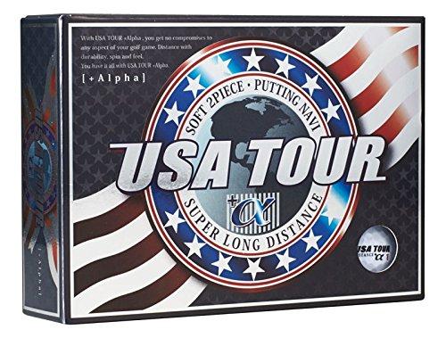 アサヒゴルフ ゴルフボール USA TOUR DISTANCE +α 12個入り ホワイト