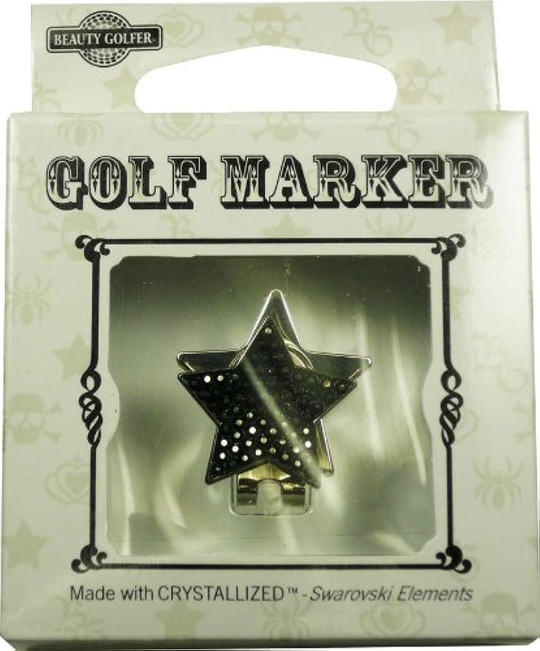 環境に優しい再撮りつぼみBEAUTY GOLFER スワロフスキー付ゴルフマーカー Golf Marker with Swarovski BG-5