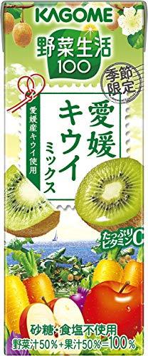 カゴメ 野菜生活100 愛媛キウイミックス 195ml×24本入×2ケース 48本