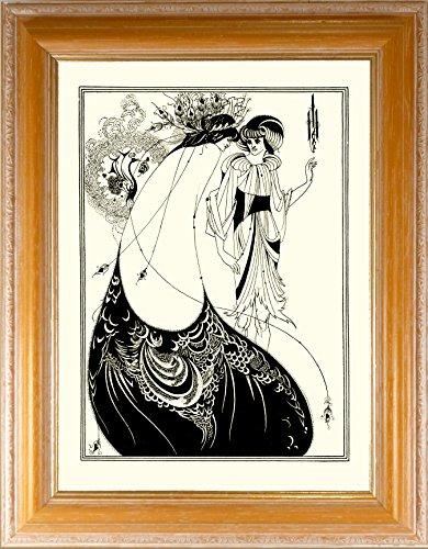 BiblioArt Series オーブリー・ビアズリー「孔雀の裳裾」額装品