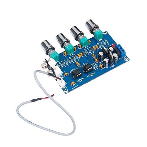 GAOHOU パワー アンプボードNE5532ステレオプリアンプトーンボード2チャンネルオーディオアンプボードモジュール