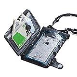 サンワダイレクト 防水ケース 小物ポケット付き iPhone 7 / SE スマホ対応 ストラップ付 小銭 / カード 収納対応 IPX8 200-SPC018WP