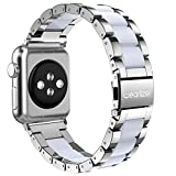 Apple Watch バンド/Apple Watch 4 バンド,Wearlizer アップルウォッチ iwatch,apple watch series 4/3/2/1 交換ベルト アップルウォッチ 4 apple watch 4 バンド iwatch ステンレス バンド 軽量 調整工具付 シルバー
