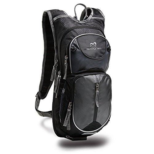 Spogram ハイドレーション 対応 サイクリング バッグ リュック 10L-12L 超軽量 自転車 ランニング ジョギング トレラン バックパック (黒)