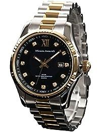 [マウロジェラルディ]Mauro Jerardi 腕時計 ソーラー ジルコニア 10気圧防水 カレンダー MJ037-2 メンズ