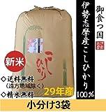 【精米無料・白米を3袋に小分け】伊勢志摩産こしひかり30kgを精米します/産地直送/つきたて新鮮 (白米(小分け3袋))