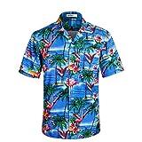 アロハシャツ メンズ 通気速乾 超軽量 ゆったり プリントシャツ 夏 ハワイシャツ