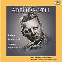 ブラームス : 交響曲 第1番 | シューマン : 交響曲 第1番 (Brahms : Symphony No.1 | Schumann : Symphony No.1 / Hermann Abendroth | Bayerisches Staatsorchester | Rundfunk-Sinfonieorchester Berlin) [2LP] [Live Recording] [Limited Edition] [日本語帯・解説付] [Analog]
