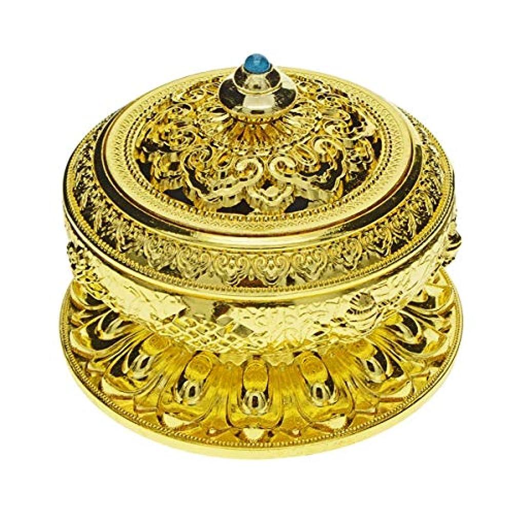 敵対的テント冷淡なSaim Chineseクラシックスタイル香炉合金メタルBuddha Incense Holder Candle Censer – Buddhist装飾、ホームデコレーション S ゴールド G1HXJJ08952