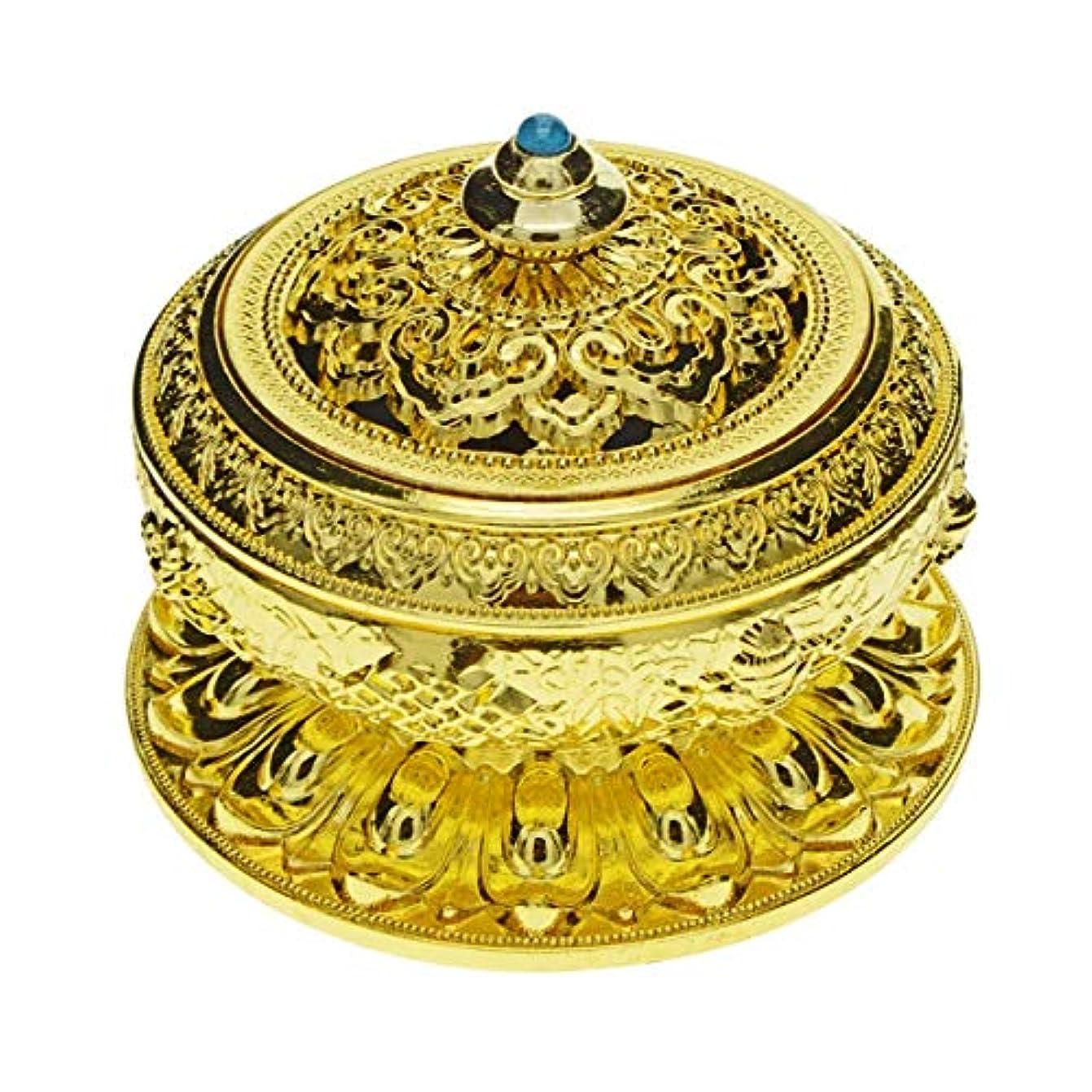 サーフィン怠バックアップSaim Chineseクラシックスタイル香炉合金メタルBuddha Incense Holder Candle Censer – Buddhist装飾、ホームデコレーション S ゴールド G1HXJJ08952