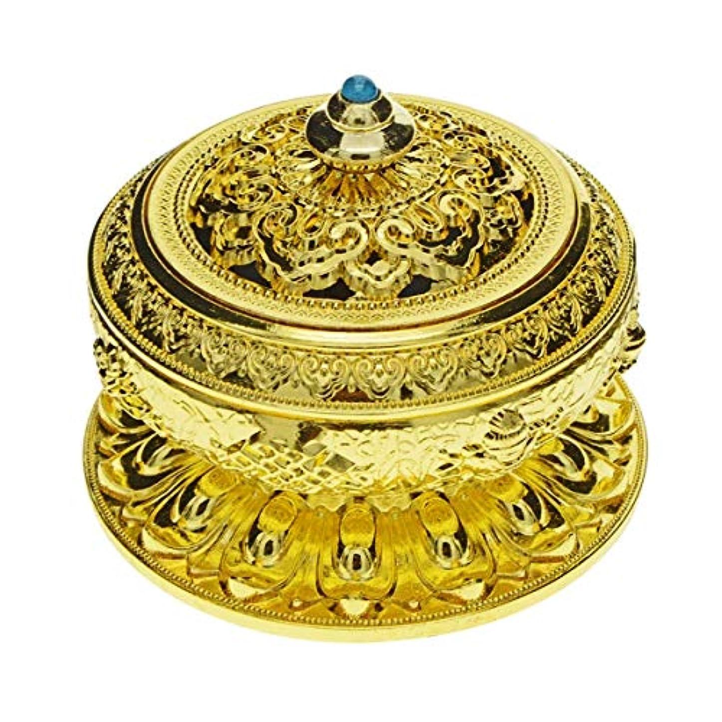 Saim Chineseクラシックスタイル香炉合金メタルBuddha Incense Holder Candle Censer – Buddhist装飾、ホームデコレーション S ゴールド G1HXJJ08952