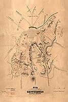 ゲティスバーグの戦い–Civil WarパノラマMap 16 x 24 Giclee Print LANT-20024-16x24