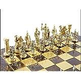 歴史的なローマのフィギュア 真鍮&ニッケル チェスピース ビッグサイズ ローマ人 チェスセット (ボードは含まれません)
