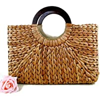 Top Handle Straw Handbag | Casual Women Satchel | Travel Tote | Everyday Large Bag