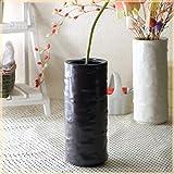 美濃焼丸花瓶 黒 花器 フラワーベース 花入れ 白 黒 花束 国産 美濃焼